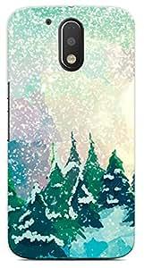 Kaira High Quality Printed Designer Back Case Cover For Motorola Moto G4 Plus(Snow)