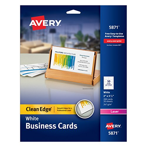 Avery Printable Two Side Clean Edge Business Cards for