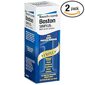 Boston Simplus Multi-Action Solution, 3.5-Ounce Bottles (Pack of 2)