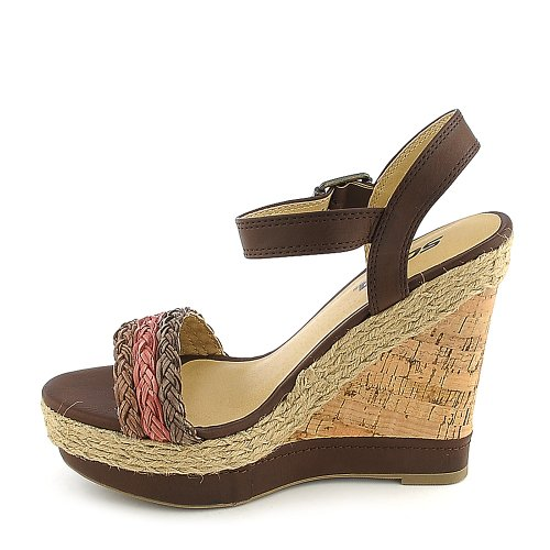 Soda Womens Reedy-S Casual Wedge bamboo womens driven 77 casual wedge