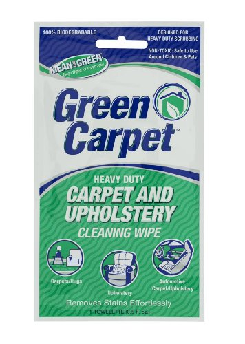 Nutek Green Carpet and Upholstery Cleaning  Wipes- BET-0040, Pack of 12