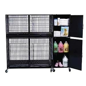 Isaac Mizrahi Pet Modular Cage Storage Cabinet Small Black Pet Supplies