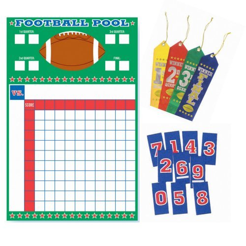 Football Pool Game Party Supplies