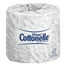 "Kimberly-Clark Kleenex Cottonelle 17713 Bath Tissue, 4-57/64"" Length x 4"" Width, White (60 Rolls of 506)"