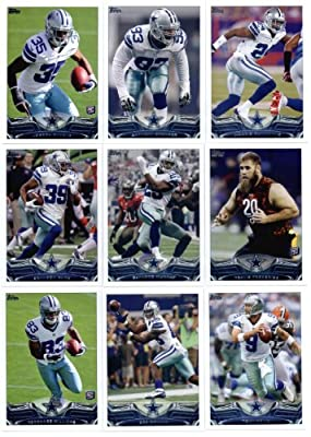 2013 Topps NFL Football Team Set (SEALED) - Dallas Cowboys : 14 Cards > Morris Claiborne Dallas Cowboys Joseph Randle Anthony Spencer DeMarcus Ware DeMarco Murray Travis Frederick Brandon Carr Tony Romo Dez Bryant Gavin Escobar Jason Witten Miles Austin T