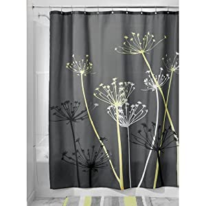 interdesign thistle shower curtain 72 x 72