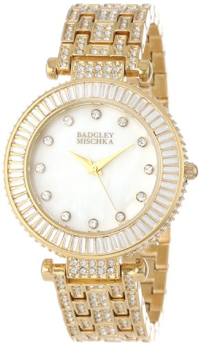 Badgley Mischka Women's BA/1222WMGB Swarovski Crystal-Accented Bracelet Watch