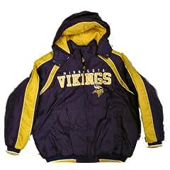 Minnesota Vikings Slot Receiver Full Zip Jacket w  Detachable Hood (Large) by G-III