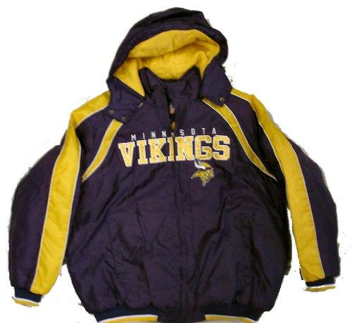 Minnesota Vikings Slot Receiver Full Zip Jacket w  Detachable Hood (Medium) by G-III