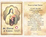 img - for St. Therese of Lisieux Relic Prayer Card book / textbook / text book