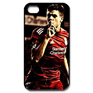 England Football Super Star&Steven.George.Gerrard Theme Case Cover for iPhone 4/4S - Personalized Hard Cell Phone Back Protective Case Shell-Perfect as gift from Gerrard