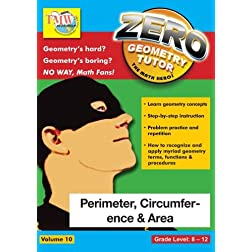 Zero The Math Hero - Perimeter, Circumference & Area