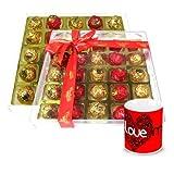 Valentine Chocholik Luxury Chocolates - Lovely Collection Wrapped Chocolate Box With Love Mug
