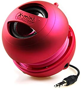 XMI X-Mini II 2nd Generation Capsule Speaker with 3.5mm Jack Compatible with iPhone/iPad/iPod/Smartphones/Tablets/MP3 Player/Laptop - Pink