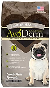 AvoDerm Small Breed Senior Health Lamb Meal Grain Free Dry Dog Food, 4 lb