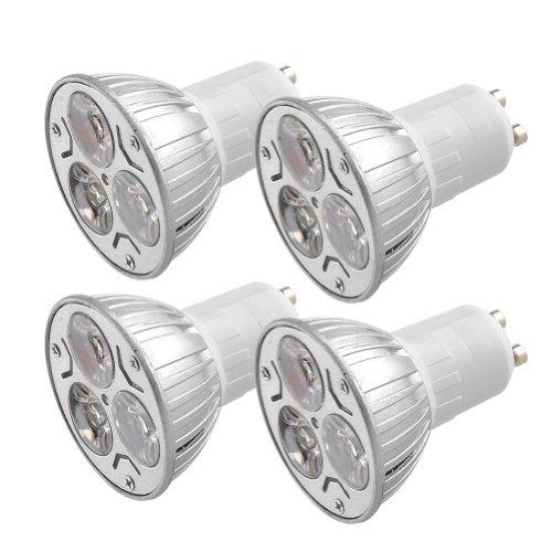 Amzdeal® Pack Of 4 Pcs 6W Gu10 Cool White Led Spotlight Light Buld Lamp Set, Ac 85-265V, 50 Watt Incandescent Equivalent, Ultra Bright