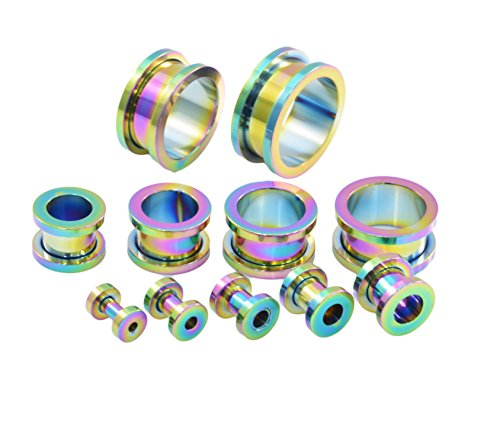 screw-on-316-stainless-steel-metal-ear-tunel-various-sizes-and-colours-rainbow-pearlescent-10-mm