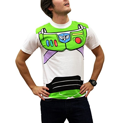 [Toy Story Buzz Lightyear Costume T-Shirt-Large] (Buzz Lightyear Shirt Costume)