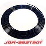 UNIVERSAL BLACK Door Edge Guard protection Car Auto Molding Trim 15 Feet D.I.Y. FIT CHEVROLET CHEVY FORD GMC DODGE LINCOLN JEEP CHRYSLER CADILLAC BUICK MERCURY SATURN #BLKDR1