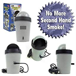 Ionic Smoke Eliminating Ashtray for Car or Home