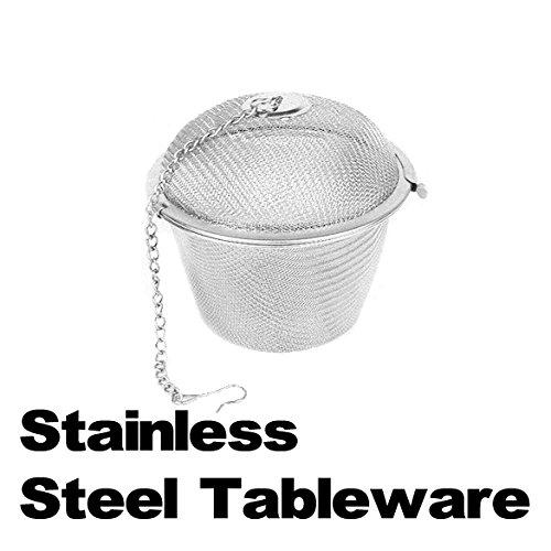Tea Stainless Strainer Locking Tea Spice Mesh Herbal Ball Diam 4.5Cm Es88