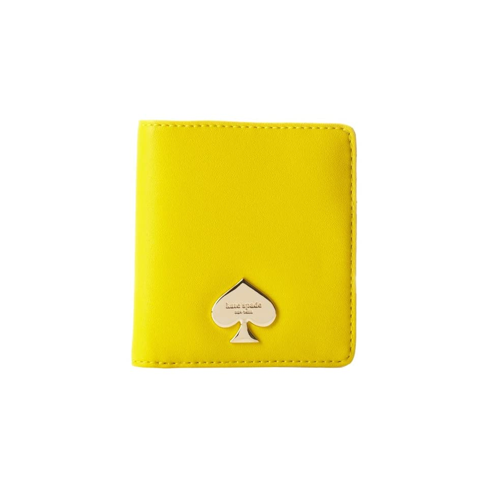 kate spade new york Cobblestone Park Small Stacy Wallet,Graffiti Yellow,One Size