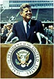 Laminated President John F Kennedy Speech Color Archival Photo Poster 13 x 19in