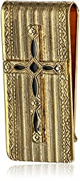 The Vatican Library Collection Gold-Tone and Onyx Colored Cross Money Clip