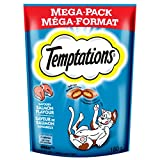 TEMPTATIONS Classic Treats for Cats Savory Salmon Flavor 6.3 Ounce; With Our Mouthwatering Menu We Have a Flavor For Every Feline (6.3 oz- Pack of 10)