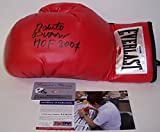 Roberto Duran Autographed Hand Signed Everlast Red Left Hand Boxing Glove - with HOF 2007 Inscription - PSA/DNA