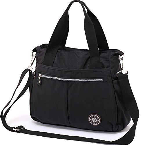ZYSUN-Damen-Handtasche-Schultertasche-Tasche-Large-Umhngetasche-Entwerfer-Shopper-Tote-602-schwarz