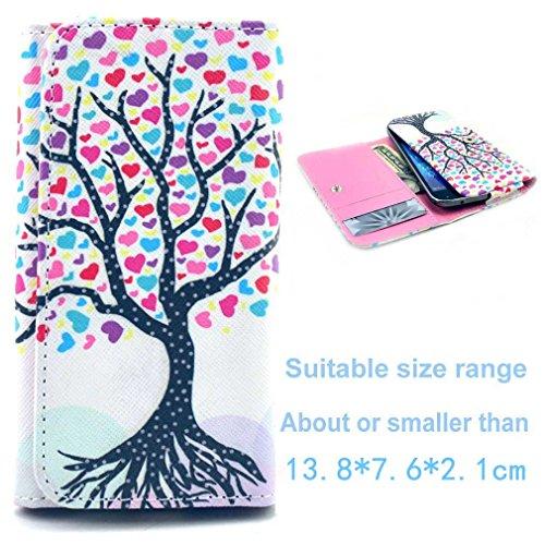 (3#C) Portemonnaie PU-Leder Multipurpose
