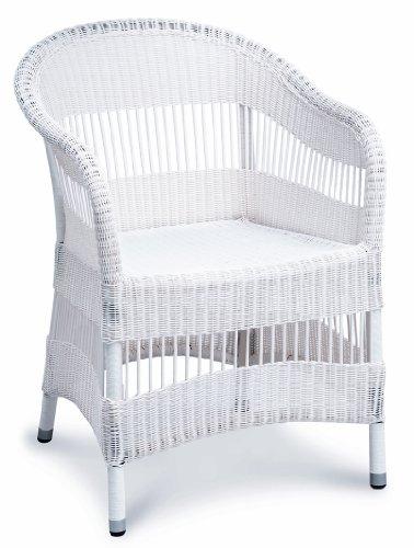 loom sessel charlotte weiss rattanstuhl korbsessel armlehnstuhl inkl kissen stuhl loom. Black Bedroom Furniture Sets. Home Design Ideas