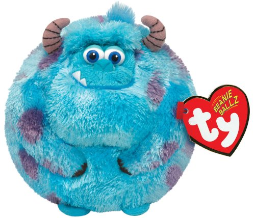 Ty Beanie Ballz Sulley Blue Monster Plush - 1