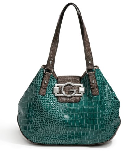G by GUESS Gaira Colorblock Tote, TEAL