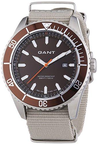 Gant SEABROOK MILITARY W70633 - Orologio da polso da uomo, cinturino in nylon colore grigio