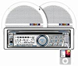 51aDAPoaYML. SL160  Lowest Price Dual MXCP66 In Dash Marine AM/FM/CD/MP3 Receiver 6 1/2 Inch Speaker Combo Pack   White  Reviews