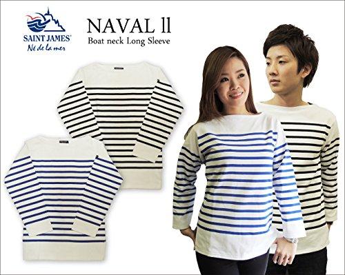 (セントジェームス) saint james NAVAL ll ナヴァル ユニセックス ボートネック長袖ボーダーTシャツ バスクシャツ NAVAL2 型番:2186 T1(LADIES.XS?S) Neige.Gitane [並行輸入品]