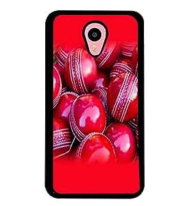 Fuson Premium Kukaburra Red Balls Metal Printed with Hard Plastic Back Case Cover for Meizu M2 Note