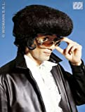 Mens Black Elvis Wig The Fonz Grease Danny Zuko Teddy Boy Fancy Dress