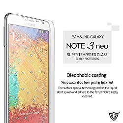 MoArmouz® - Super Tempered Glass Screen Protector for Samsung Galaxy Note 3 Neo - Super Screen Guard Strongest -Anti-scratch / Fingerprint resistant / HD /9H Hardness 3D Touch Compatible / Mobile Accessories / Screen Protectors