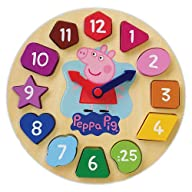 Peppa Pig Wood Puzzle Clock