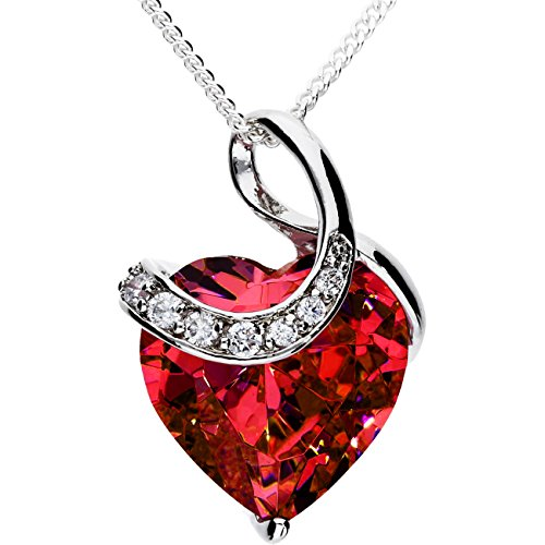 mya-art-ladies-necklace-with-cubic-zirconias-necklace-925-sterling-silver-heart-pendant-with-ruby-re