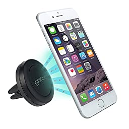 Car Mount, GFKing® Maggrip Air Vent Magnetic Universal Car Mount Holder for the Galaxy S6/s6 Edge, Lg G4, Apple Iphone 6 6 Plus 6s 6s Plus, Iphone 5s 5c 5 4s, Samsung Galaxy S5 S4 S3, HTC M9