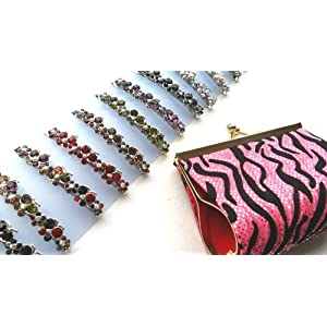 Rhinestone Bling Hair Barrette Set of 12 Assorted