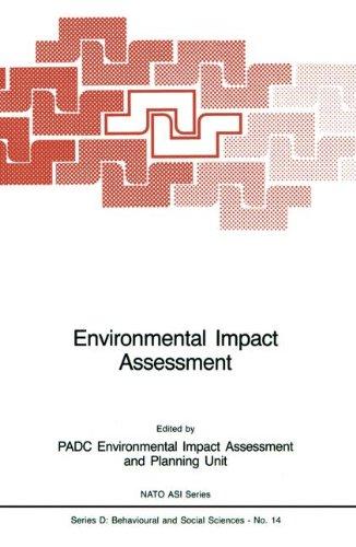 Environmental Impact Assessment (Nato Science Series D:)