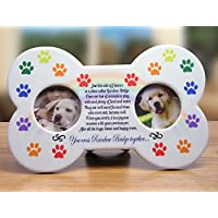 Rainbow Bridge Dog Picture Frame - Rainbow Bridge Poem Printed on the Front with Colorful Rainbow Paw Prints - Nice Gift for Someone Who Has Lost a Dog 9