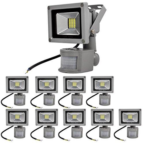 10Pcs 20W Cool White Smd 18Leds Pir Motion Sensor Floodlight Led Landscape Lamp