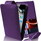 SKT - IPod touch 5th Generation - Chic PU leather magnetic flip case cover - Purple plus Clear Screen Guard