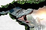 ウォールステッカー トリックアート 恐竜 サイズS